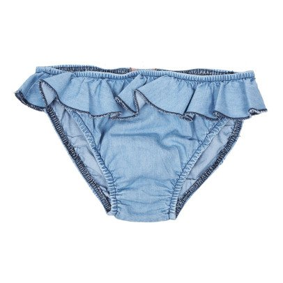 Emile et Ida Ruffled Chambray Swimsuit-listing