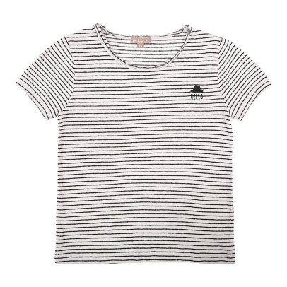 Emile et Ida T-shirt Coton et Lin Rayé-listing
