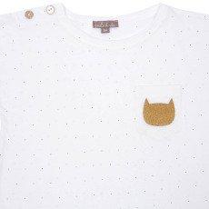 Emile et Ida T-Shirt mit Punkten Katze -listing