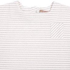 Emile et Ida Lurex Striped Sailor Collar T-Shirt-product