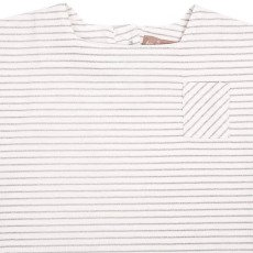 Emile et Ida T-shirt Col Marin Rayures Lurex-listing