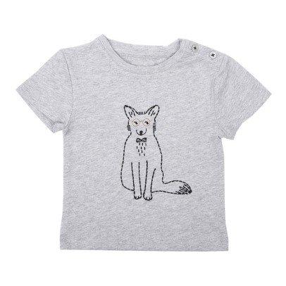 Emile et Ida T-shirt Renard Brodé Nino-listing