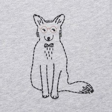 Emile et Ida Nino Embroidered Fox T-Shirt-listing