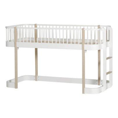 Oliver Furniture Lit mezzanine mi-haut 90x200 cm en chêne-listing