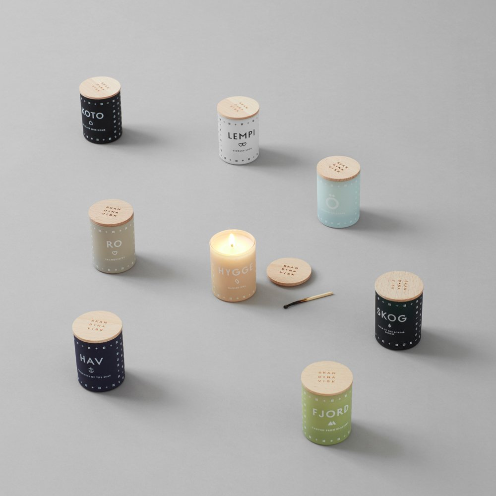 Skandinavisk Bougie parfumée Fjord avec couvercle - 190 g-product