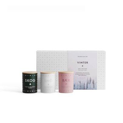 Skandinavisk Coffret mini bougie - Set de 3 bougies 55g-listing