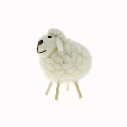 Gab et Lou Mouton décoratif Blanc-listing