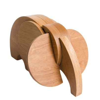 Wodibow Wooden Elephant Magnet-listing