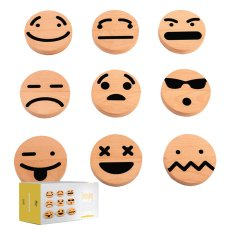product-Wodibow Wooden Emoji Magnets - Set of 20