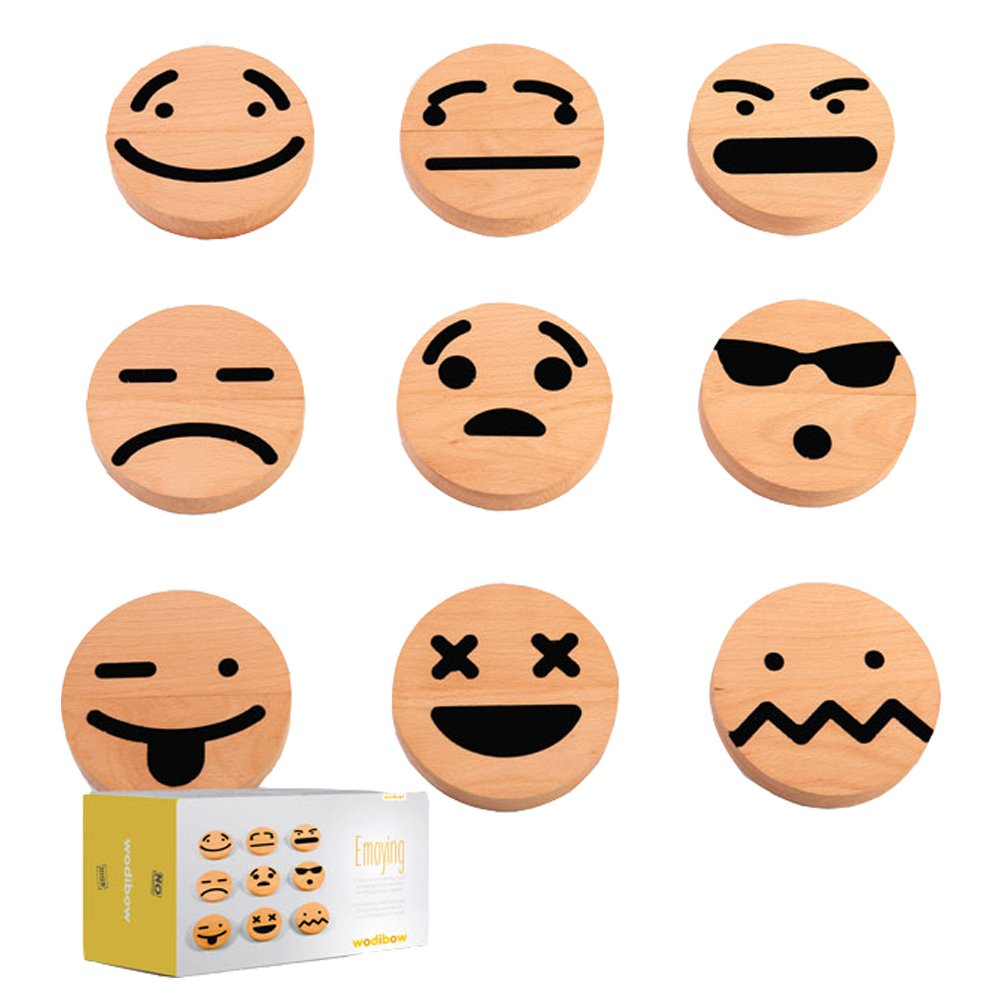 Wodibow Wooden Emoji Magnets - Set of 20-product