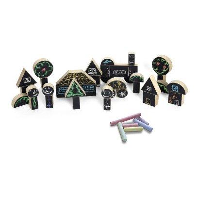 Wodibow Pizarra para colorear en madera imantada - Set de 31 piezas -listing