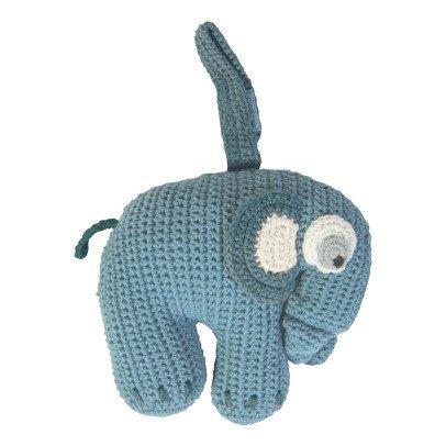 Sebra Doudou musical élephant en crochet-listing