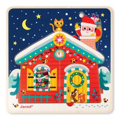 Janod Puzzle trois niveaux la nuit de Noël-listing