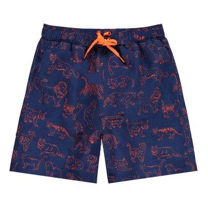 Stella McCartney Kids Exclusive Stella McCartney x Smallable - Feline Swim Shorts-listing