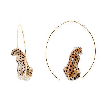 """Nach """"Grande"""" Cheetah Porcelain Hoops-listing"""
