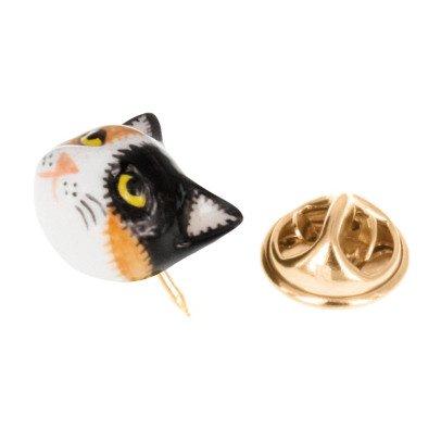 Nach Brosche aus Porzellan Katze -listing