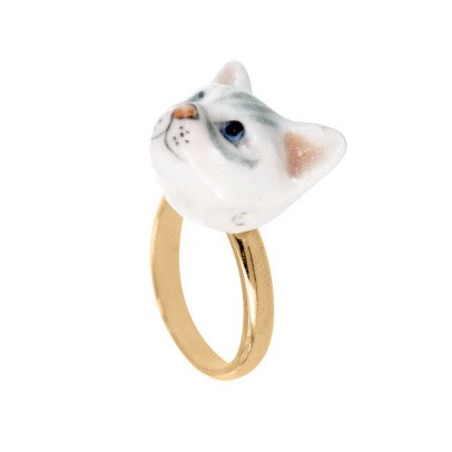 Nach Mini Cat Adjustable Porcelain Ring-listing