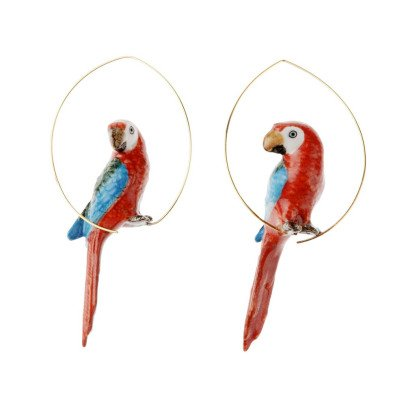 "Nach ""Grande"" Parrot Porcelain Hoops-product"