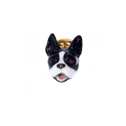 Nach Brosche aus Porzellan Bulldogge-listing