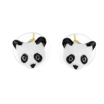 Nach Ohrringe aus Porzellan Mini Panda -listing