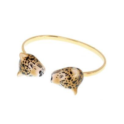 Nach Armband aus Porzellan Leopard Face to Face -listing