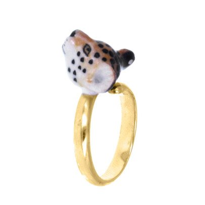Nach Mini Leopard Adjustable Porcelain Ring-listing