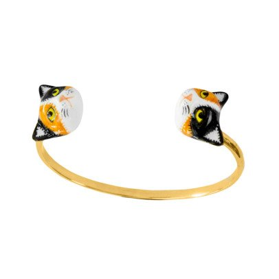 Nach Face To Face Porcelain Cat Bracelet-listing
