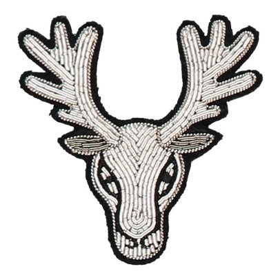 Macon & Lesquoy Broche Reno Bordado a Mano Plateado-listing