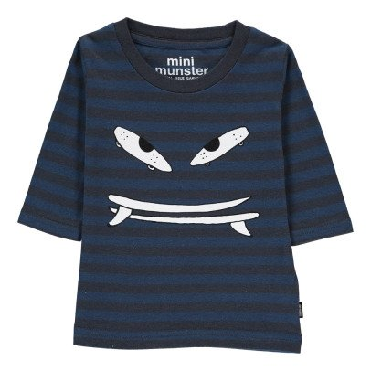 Munsterkids Striped Grind T-Shirt White-listing