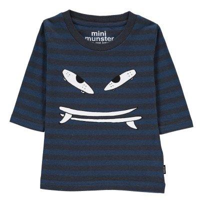 Munsterkids T-Shirt a Righe Grind Bianco-listing