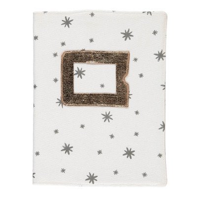 April Showers Ecru Health Book Cover - Grey Stars-listing