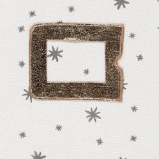 April Showers Copertina libretto sanitario Ecru - stelle grigie-listing
