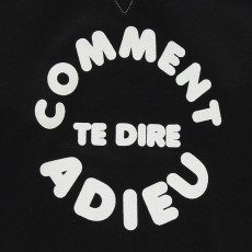 La Petite Française Sweat Adieu Noir-listing