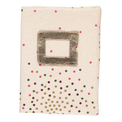 April Showers Polka-dots Health Booklet Cover - Meg Ecru-listing