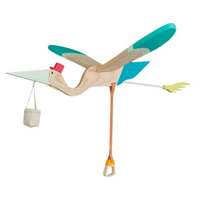 Eguchi Toys Multicoloured Wooden Pelican Mobile-listing