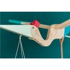 Eguchi Toys Móvil de madera Pelicano Multicolor-listing
