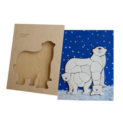 Eguchi Toys Puzzle en bois Ours polaire Multicolore-listing