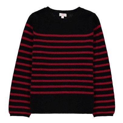 Zef Cashmere striped Cork pullover-listing
