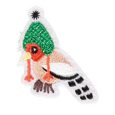 Macon & Lesquoy Bügelabzeichen Vogel mit Mütze  Grün-listing