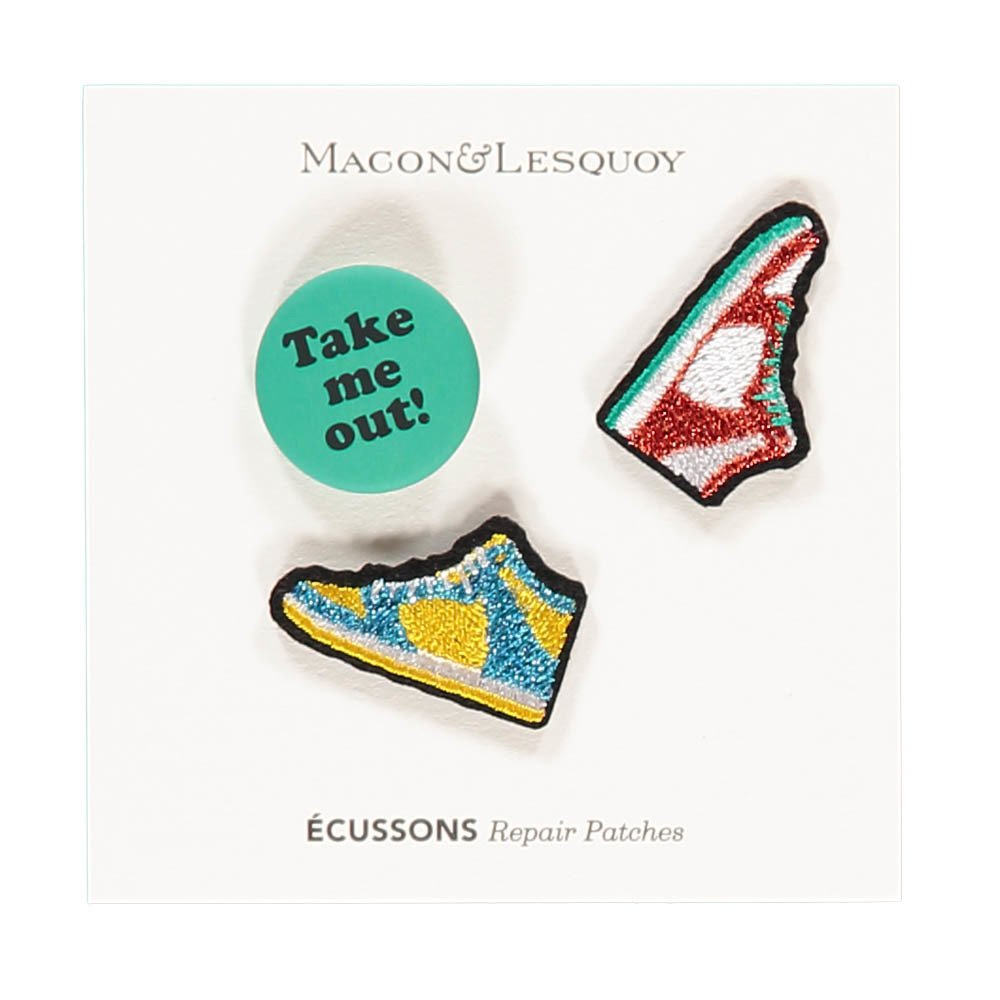 Iron-on Take Me Out Badge Turquoise-product