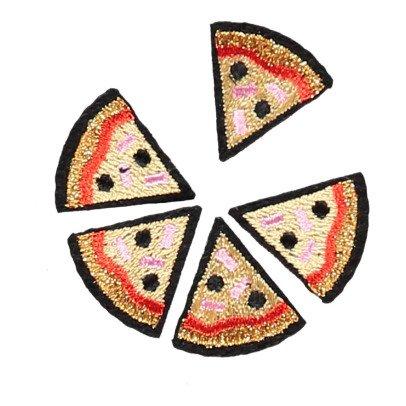 Macon & Lesquoy Planche de 5 Ecussons Pizza Rouge-listing