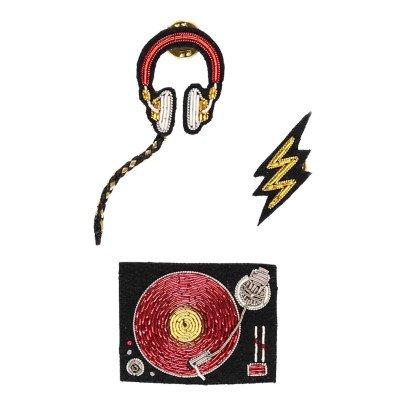 Macon & Lesquoy Assortiment de Broches Dj Set Rouge-listing