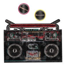 Macon & Lesquoy Large Ghetto Blaster Badge Turquoise-listing