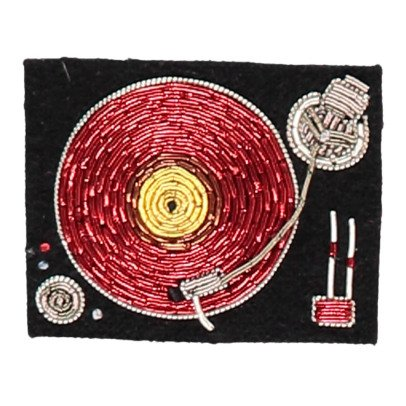 Macon & Lesquoy Brosche Mischpult gestickt  Rot-listing