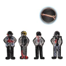 Macon & Lesquoy Ecussons Thermocollants   Badge The Kinks Noir-listing