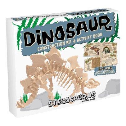 Professor Puzzle Kit de construcción Stegosauro Natural-listing