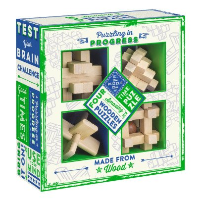 Professor Puzzle Multicoloured Wooden Puzzle - Set of 4-listing