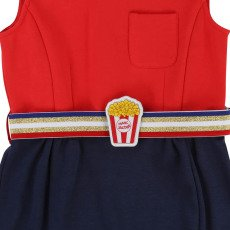 Little Marc Jacobs Popcorn Milano Dress with Two-Tone Belt-listing