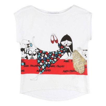 Little Marc Jacobs Red Rug Miss Marc T-Shirt-listing