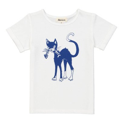 Hello Simone T-Shirt Chat Plume-listing